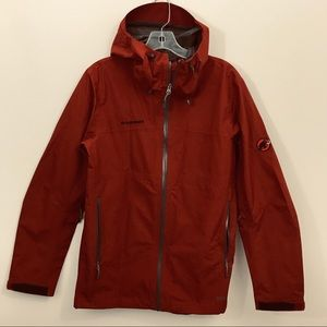 Mammut Gore-Tex Hooded Rain Jacket Rust NWOT
